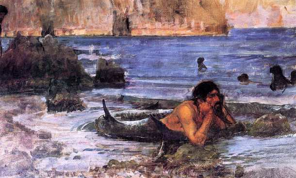 JohnWilliamWaterhouse-TheMermansketch