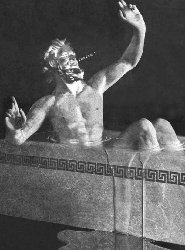 Archimedes in bathtub