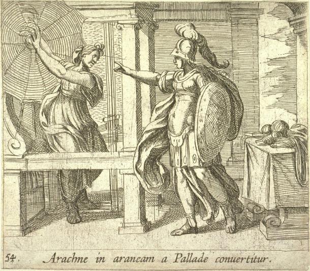 Athena and Arachne Antonio Tempesta