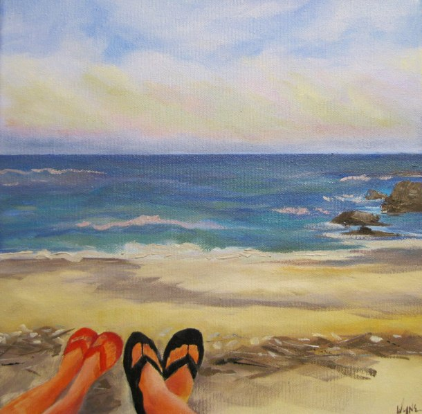 Beach Bums 12 x 12 sold