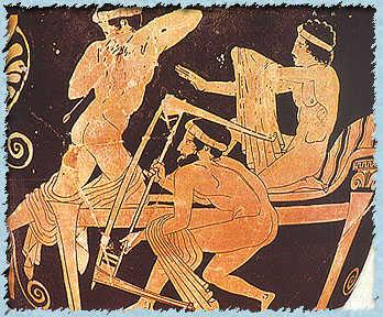 Odysseus killing the suitors